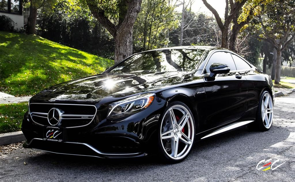 Mercedes benz s63 amg coupe with custom wheels by cec in for Mercedes benz custom cars
