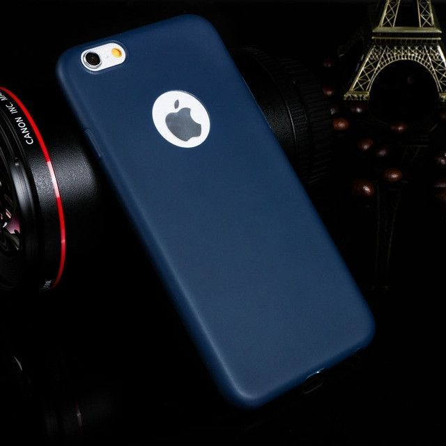 New for iPhone 7 Soft Ultra thin TPU candy color Phone Cases For iPhone 6 6S 6plus 6splus 7 7Plus 5 5S SE case coque back cover