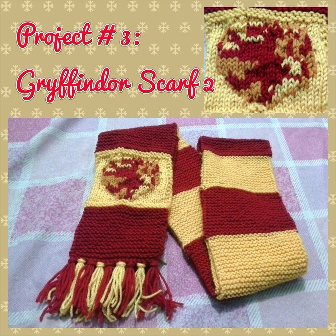 Luxury Gryffindor Scarf Pattern Knit Festooning - Blanket Knitting ...