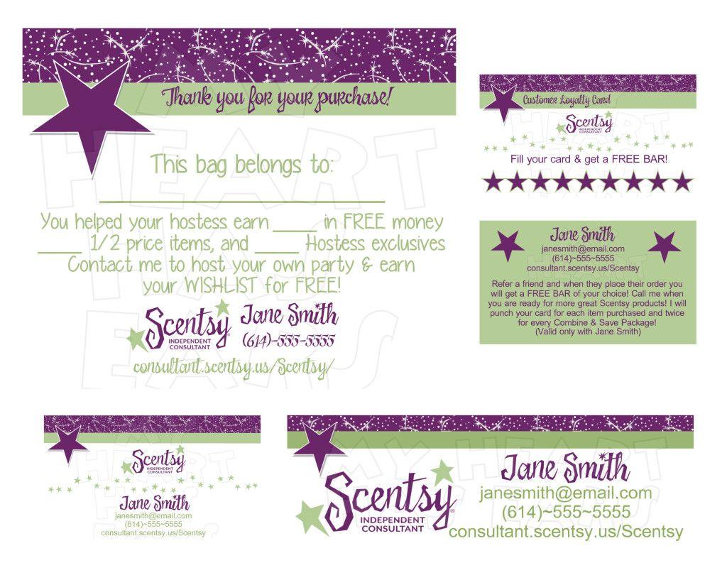 Scentsy business bundle CUSTOM printable digital business cards ...