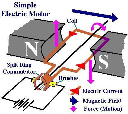 electric motor physics. Simple Electric Motor Physics E