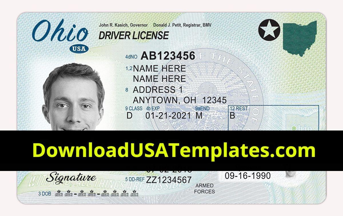California Drivers License Blank Templates Id Card Template Drivers License Card Template