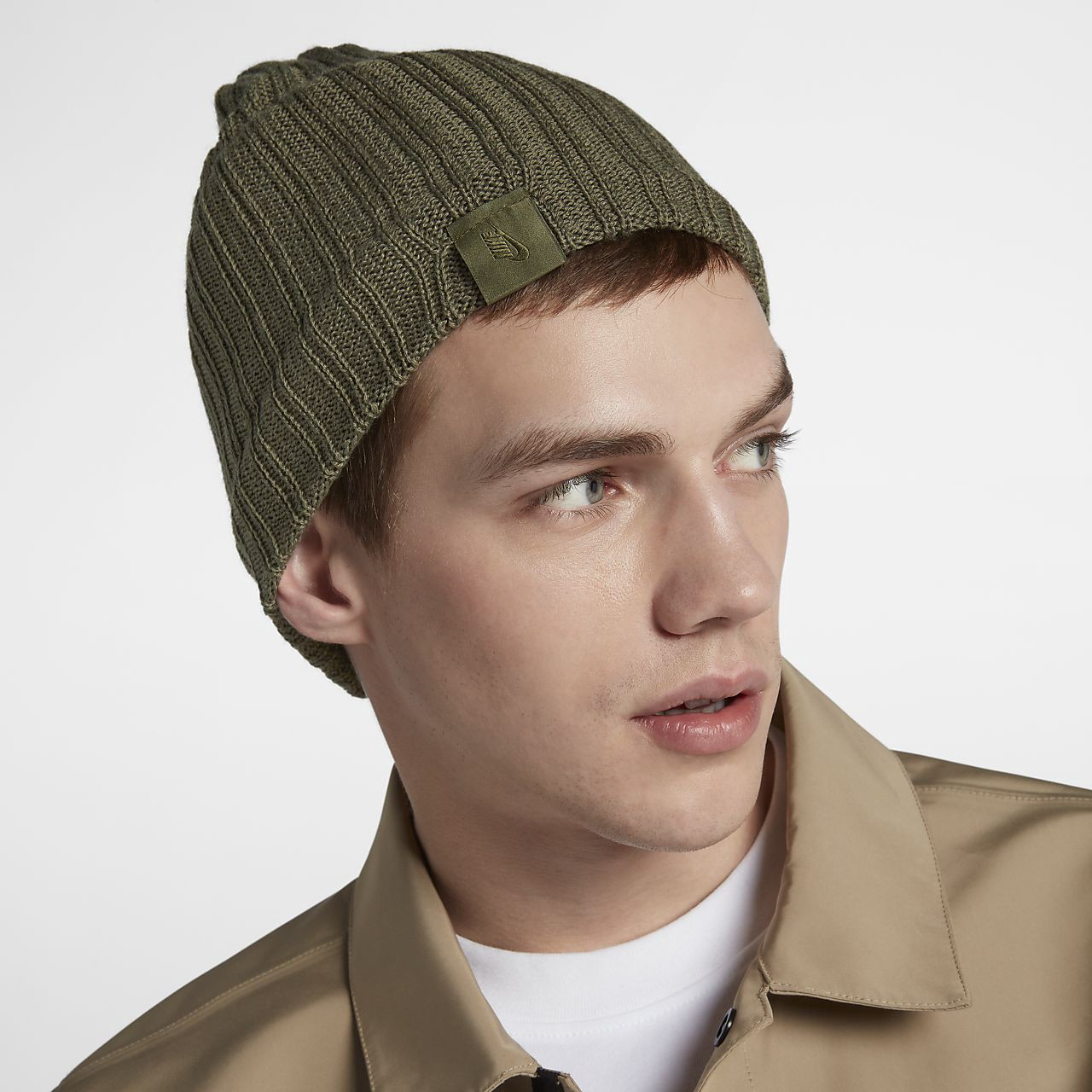 Nike Lab Collection Beanie Unisex Knit Hat - One Size Medium Olive Olive  Canvas 0ad93f1e00a3