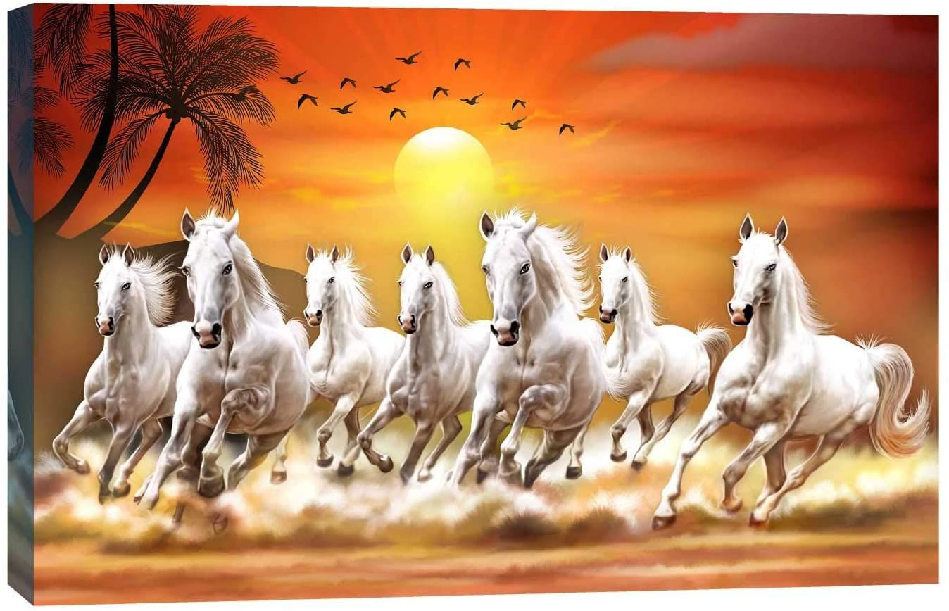 Pin By Sulav Shrivastava On Hhh Horse Canvas Painting Horse Wallpaper Seven Horses Painting