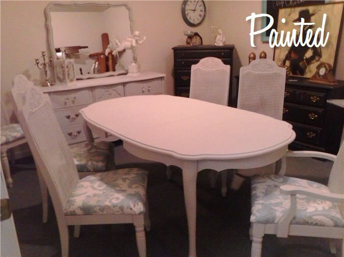 Painted French Provincial Dining Set  Diamonds Out Of Dust Beauteous French Provincial Dining Room Table Design Decoration