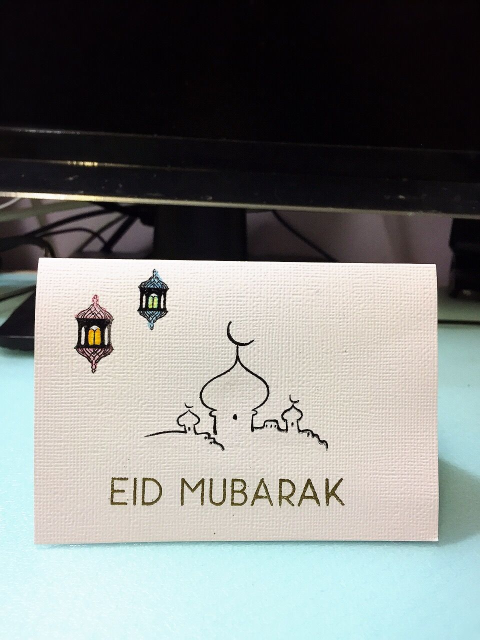 Eid Mubarak Making This Card For My Muslim Friend Using Eid