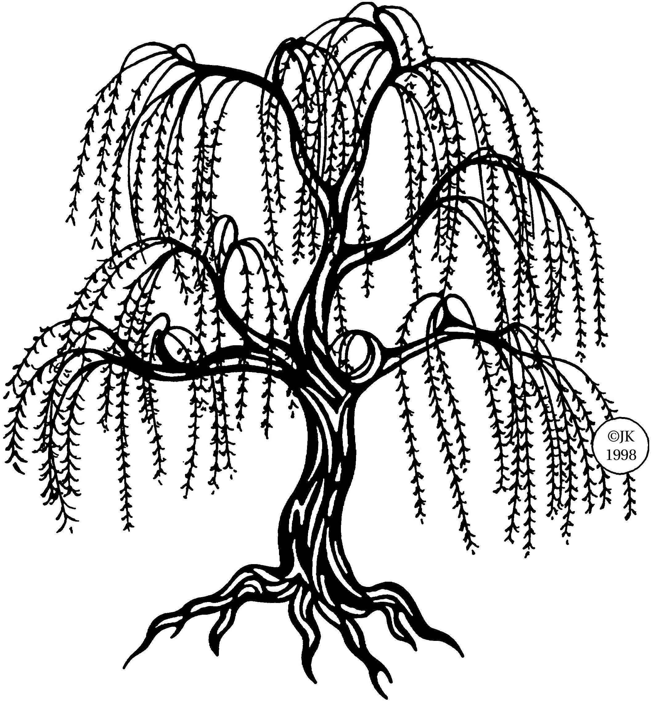 judikins judikins rubber stamp weeping willow [ 2115 x 2287 Pixel ]