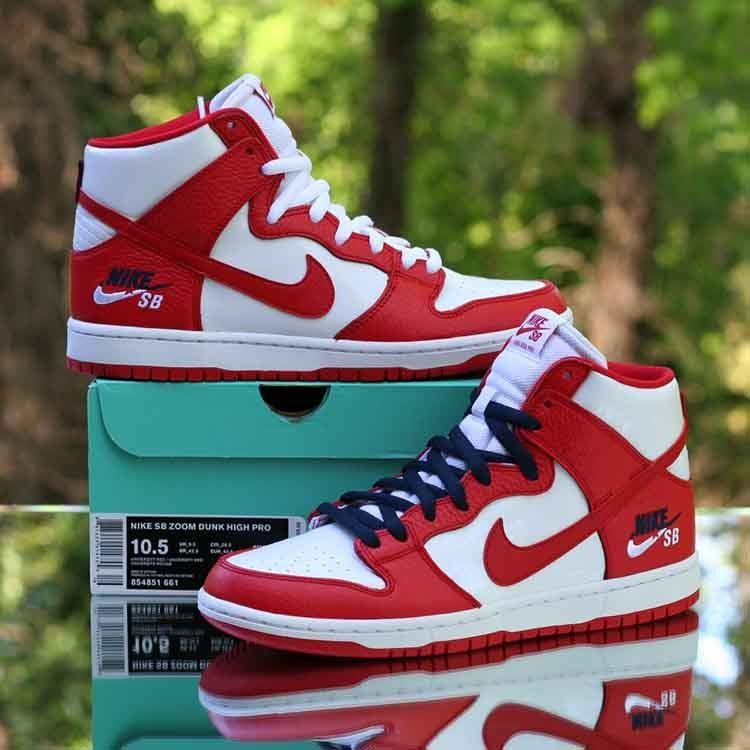 a2c502eafb06 Nike SB Zoom Dunk High Pro Logo University Red White 579765-800 Men s Size  10.5  Nike  Skateboarding