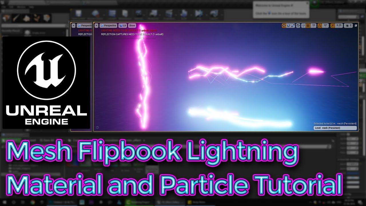 閃電 (模型+材質效果) Flip book, Tutorial, Unreal engine