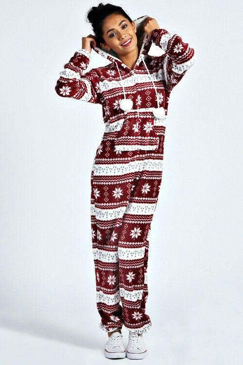 2d4460ae0 Fairisle Pom Pom Hooded Onesie
