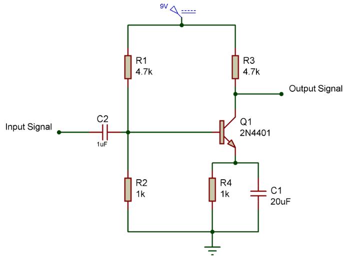amplifier circuit using transistor electronic circuits pinterest rh pinterest com simple transistor audio amplifier circuit diagram simple transistor amplifier circuit diagram