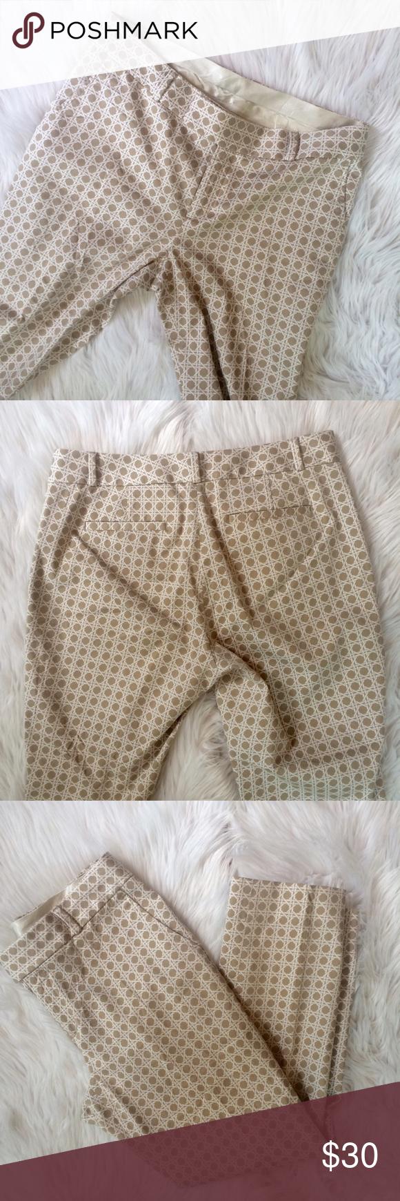 "❤️❤️ PRINT DRESS PANTS EUC. 98% cotton 2% elastane. 16.25"" waist 35"" length 26"" inseam   **bundles save 10%** no trades/no modeling/no asking for lowest Banana Republic Pants Straight Leg"