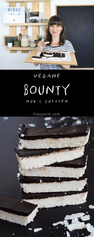Bounty selber machen | vegan & gesund - Frau Janik #falldesserts