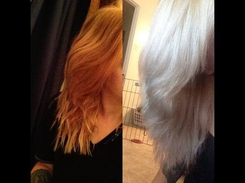 Toning Orange Hair - YouTube | Hair | Pinterest | Platinum hair ...
