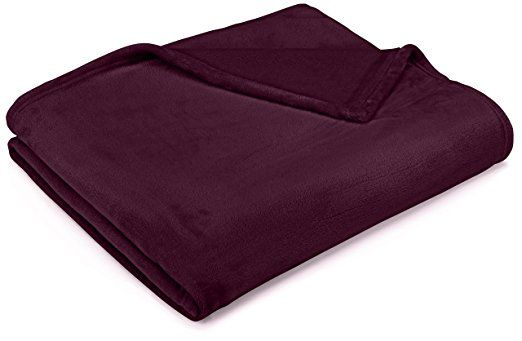 Amazon Com Pinzon Velvet Plush Blanket Full Queen Navy