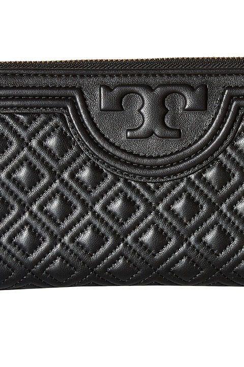 8f03814494ae Tory Burch Fleming Zip Continental Wallet (Black) Bill-fold Wallet - Tory  Burch