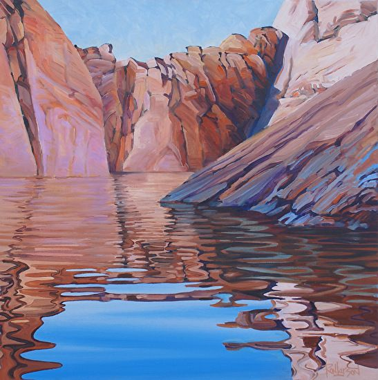 Joe's Choice, Oil, 16x16 by Ron Larson Oil ~ 16 x 16, Lake Powell