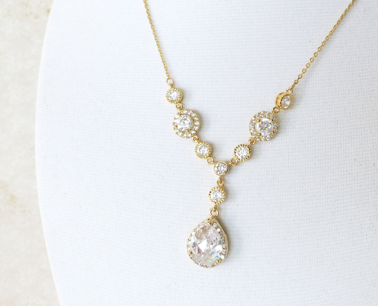 Introducing Wedding Jewelry from Glitz & Love | Crystal necklace ...