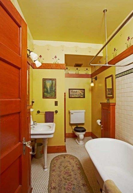 The Baths of the Craftsman Era | Bungalow, Sunnies and Originals on early 1900 bathroom design, 1800s kitchen design, 1910 kitchen design,