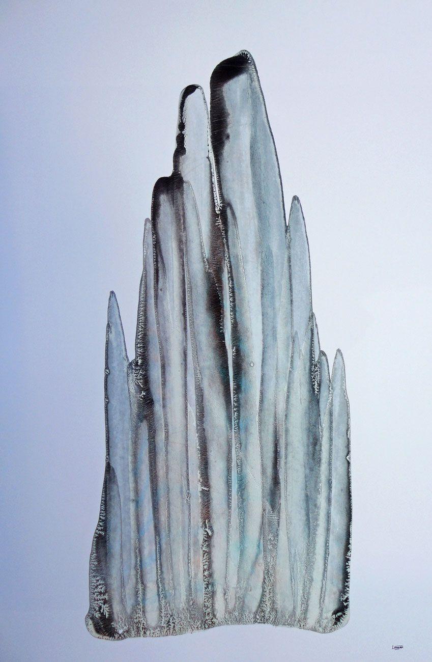 FRACTAL #3 Oil dispersion / paper 80 x 58 cm