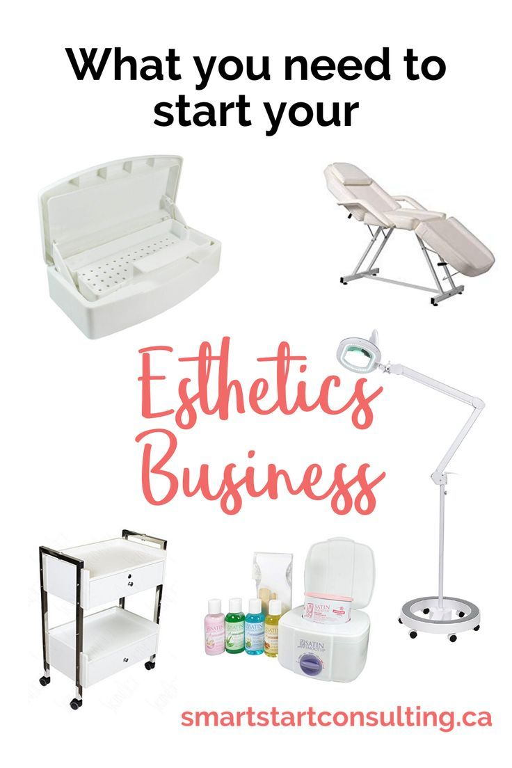 Supplies for starting your home-based esthetics business