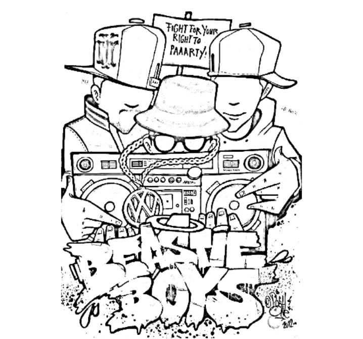 Beastie Boys | Coloring pages for boys, Dance coloring ...