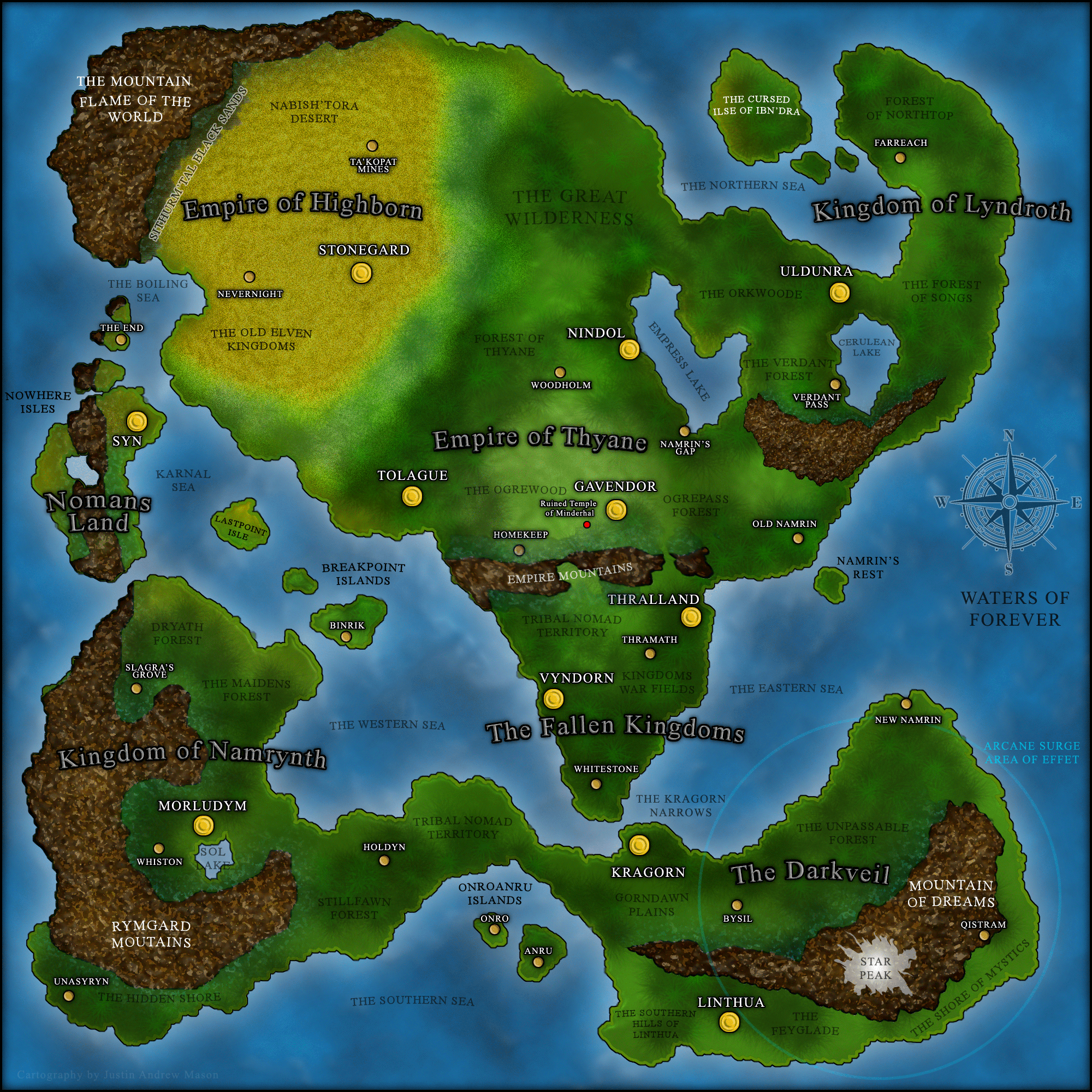 world map for personal pathfinder roleplaying game campaign map