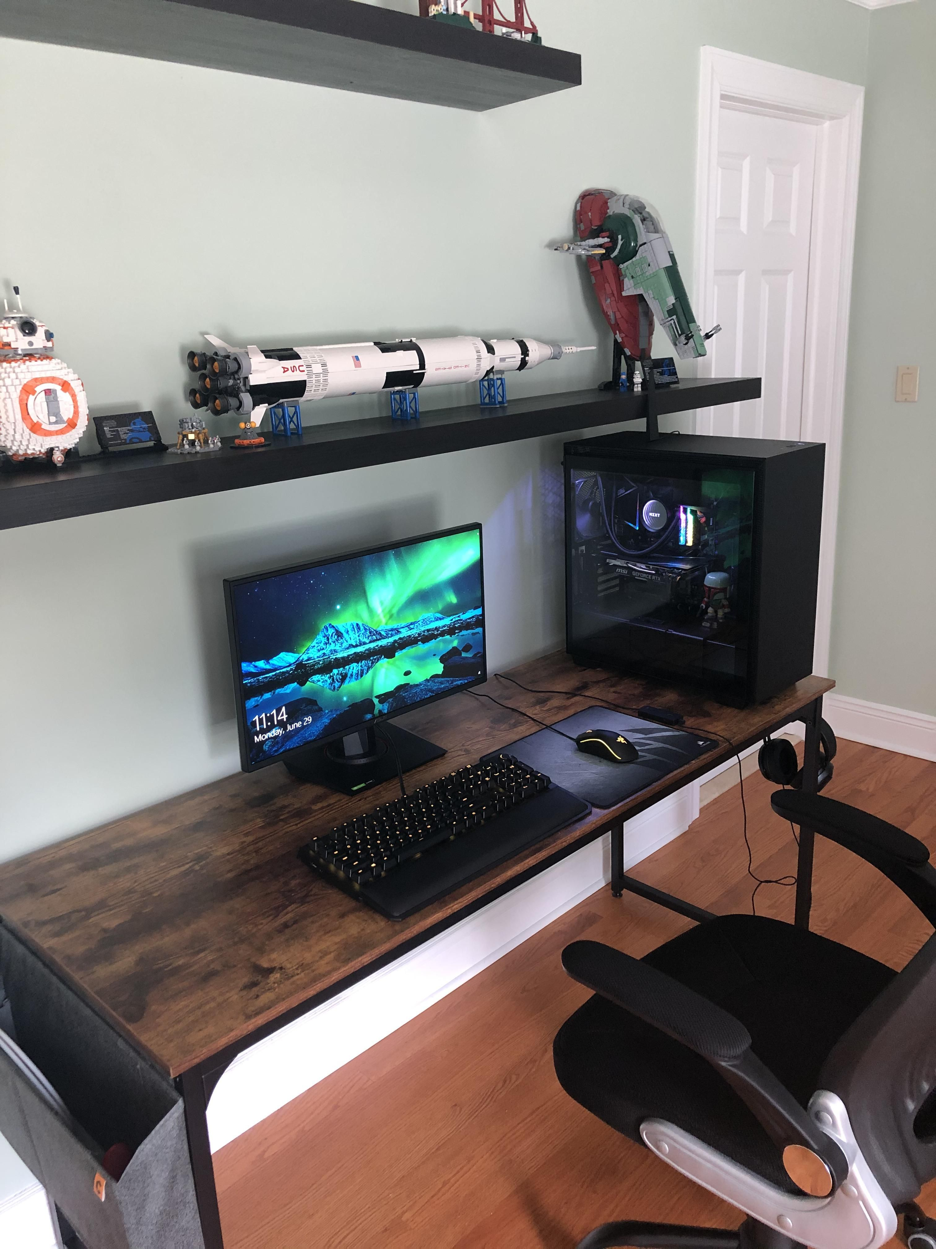 Finally Complete In 2020 Studio Interior Pc Setup Computer Setup