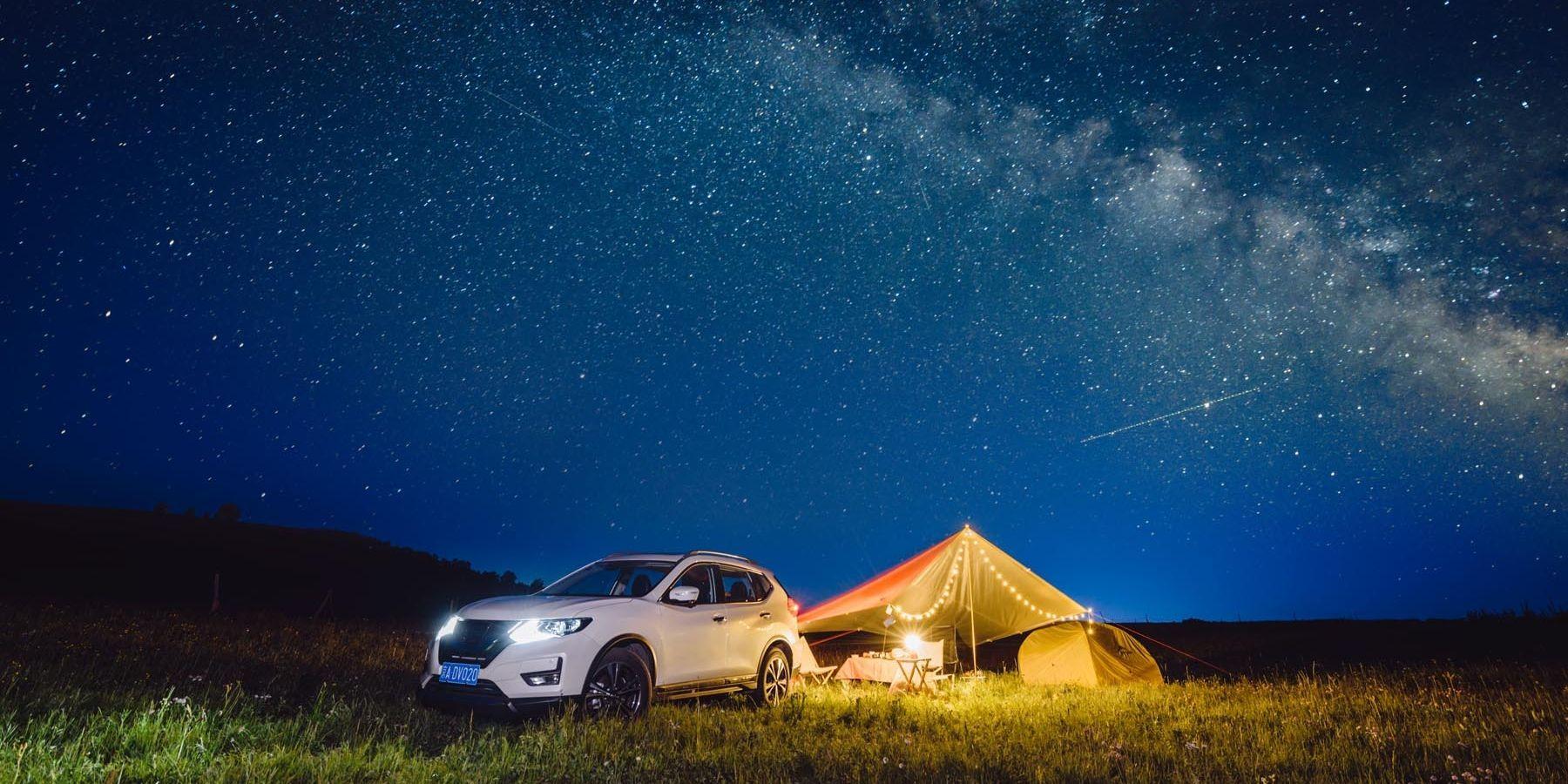 car camping night | Car camping, Camping photo, Camping hacks