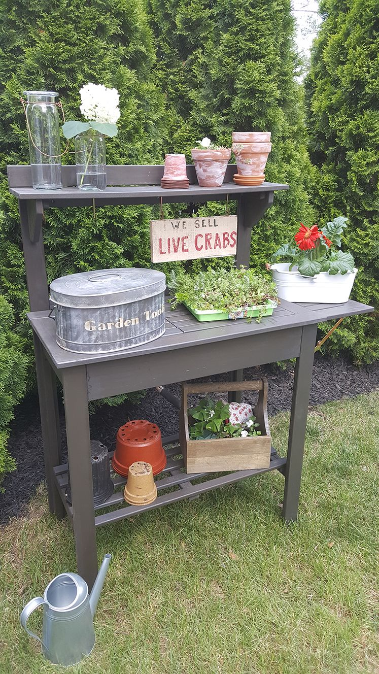 How To Get All Of Your Gardening Tools Organized With A Few Fun Accessories And Potting Bench The Can Also Be Transformed Into Server For