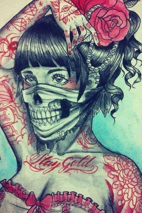 Hannya Mask Girl Tattoo: Pin By Damian Calderon On Tattoo Ideas