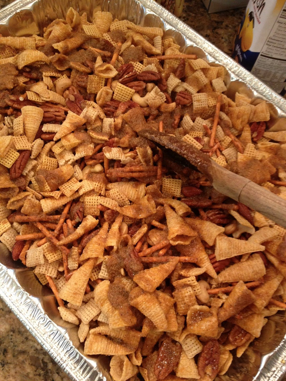 Texas Trash: 14 oz Rice Chex cerea,l 14 oz Corn Chex cereal