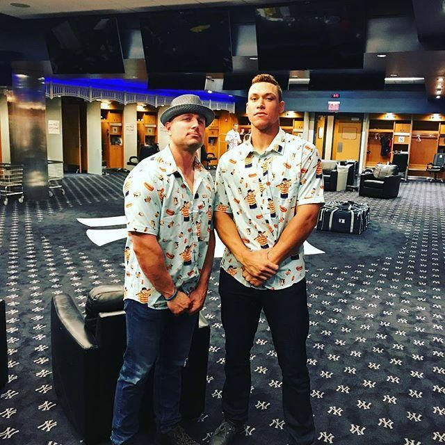 separation shoes 7f833 05fde Aaron Judge and Matt Holliday posed with 'Sandlot'-inspired ...