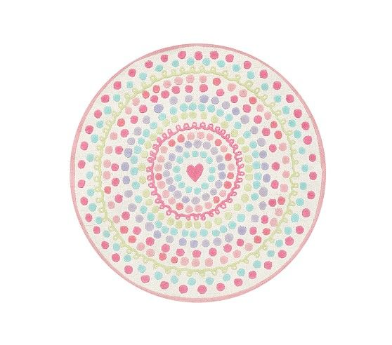 Heart Dot Round Rug Pottery Barn Kids