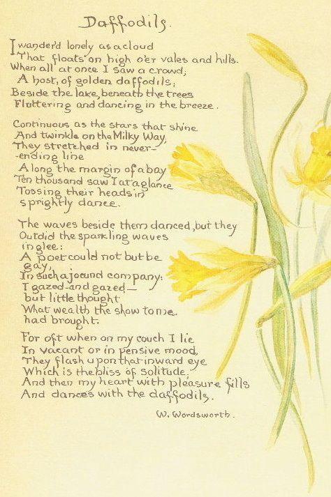 Wordsworth Jpg 474 713 Pixels Daffodils Poem Daffodils Childrens Poems