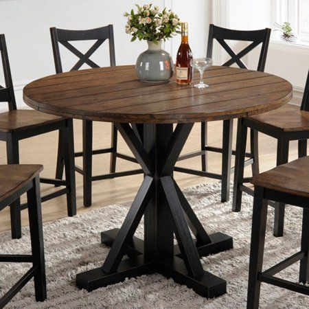 Home Dining Table Counter Height Dining Table Round Counter