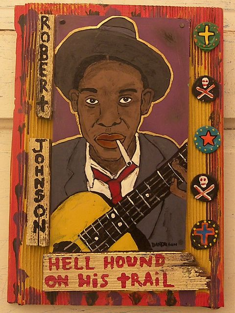 Robert Johnson..love the 'Crossroads' movie reference. The 1980s movie about Robert Johnson's lost song (starring Ralph Macchio, Jami Gertz and Joe Morton) not the Brittany Spears crap that happens to share the same title (can't even come up with an original title; I hate stupidity).