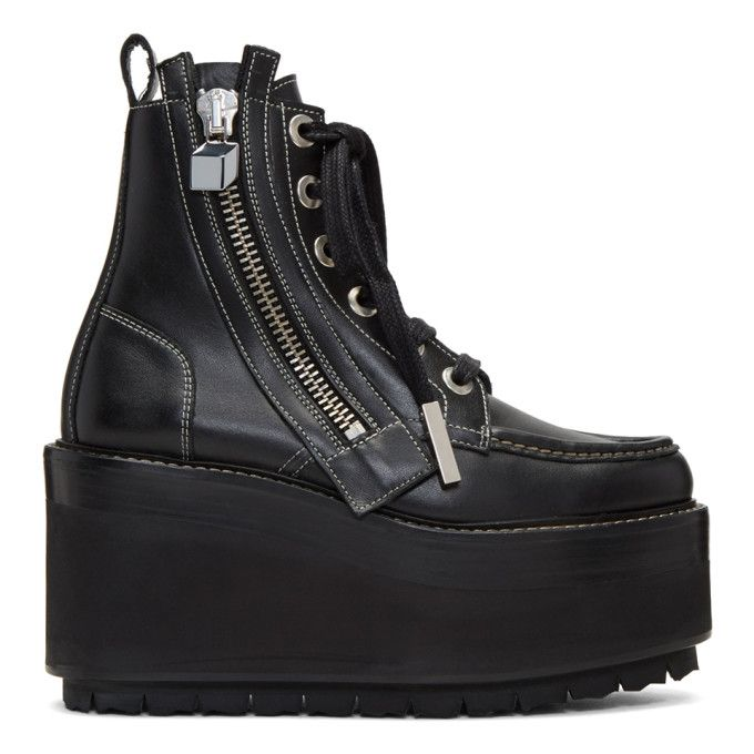 a50a2b60 PIERRE HARDY Black Up State Boots. #pierrehardy #shoes # Platform Boots,  Lace