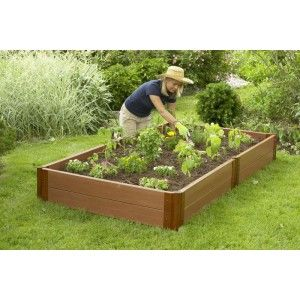 Raised Garden Beds Composite Timber DIY Kit, Veggie Planter Box, Vegetable  Patch 4u0027