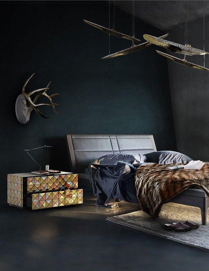 www.masterbedroomideas.eu | #blackdesign #blackinteriordesign #blackbedroom #blackbedroomdesign #blackbedroomideas