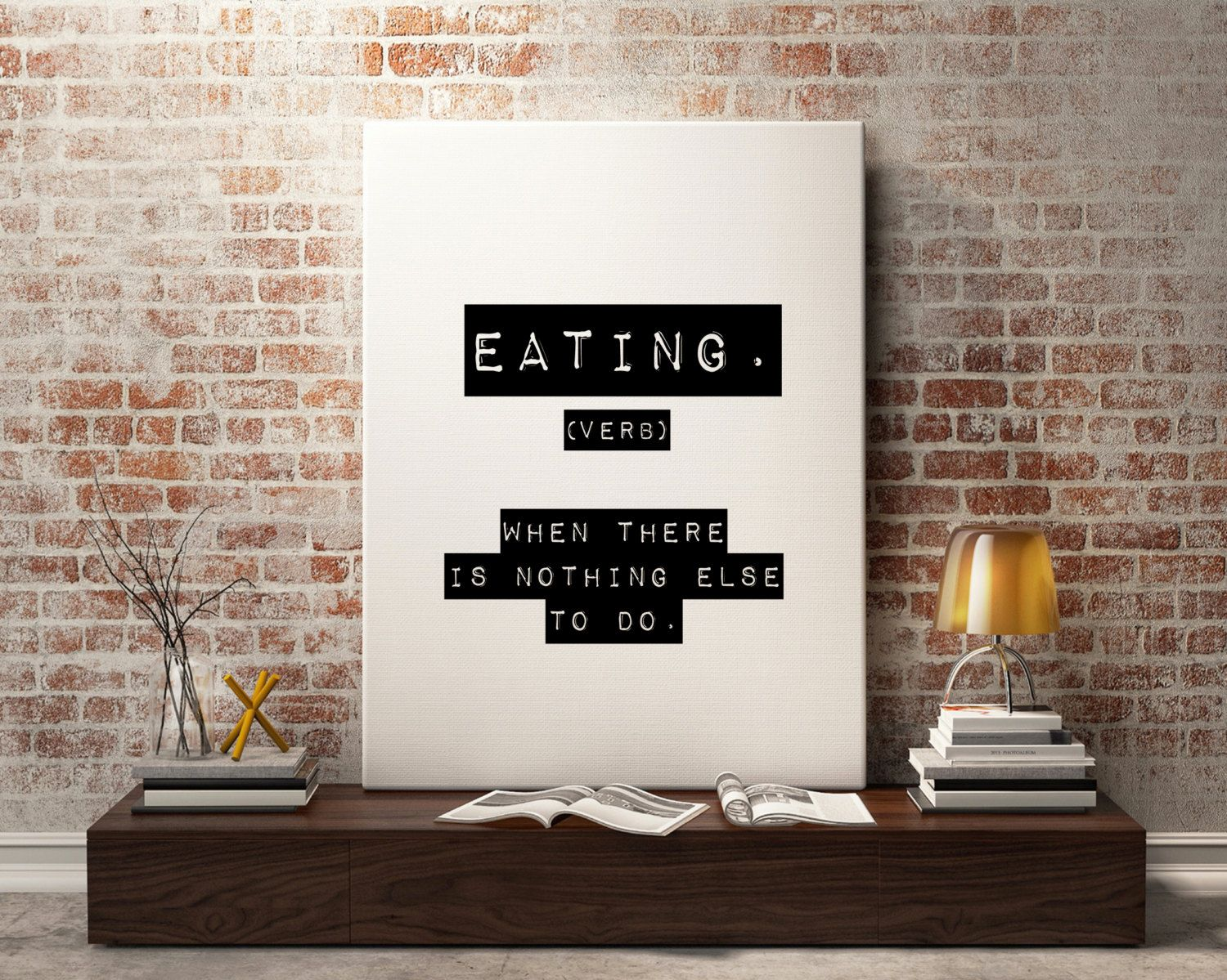 New to StyleScoutDesign on Etsy: Eating Definition Funny art print - Funny quote Printable Motivational Print Inspirational quote Typography Office Print wall decor (5.44 USD)