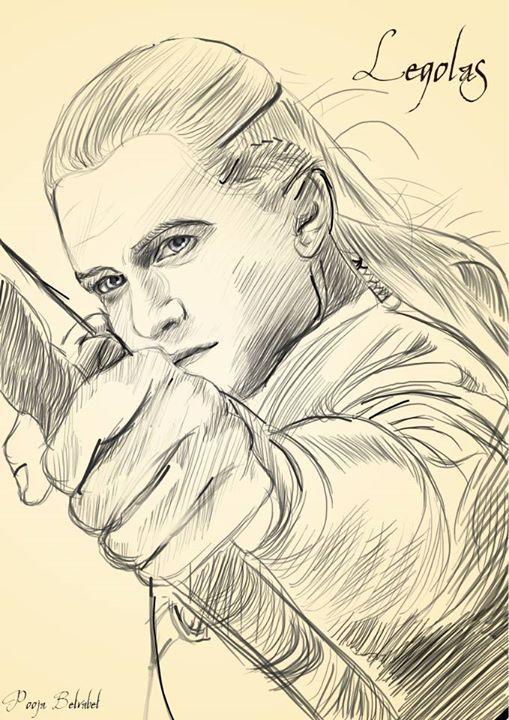 Legolas sketch artwork   Portrait zeichnen, Zeichnungen ...