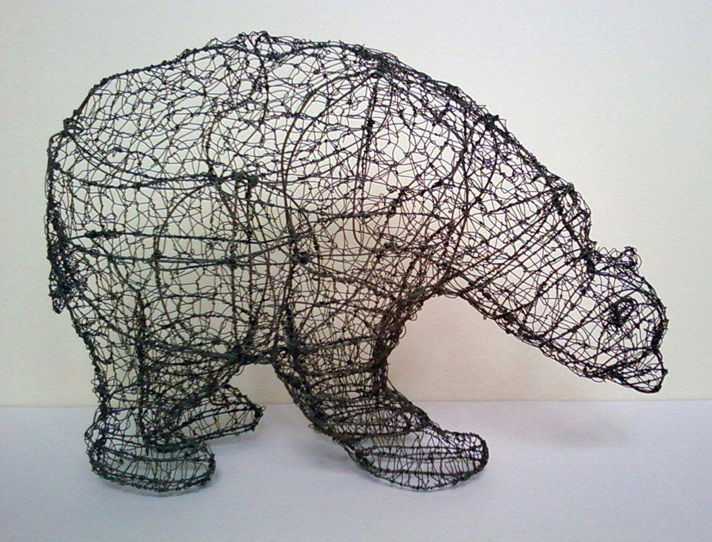 wire polar bear   art   Pinterest   Polar bear, Bears and Wire art