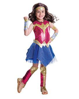 Wonder Woman Girls Fancy Dress Dawn of Justice Superhero Film Childs Kid Costume