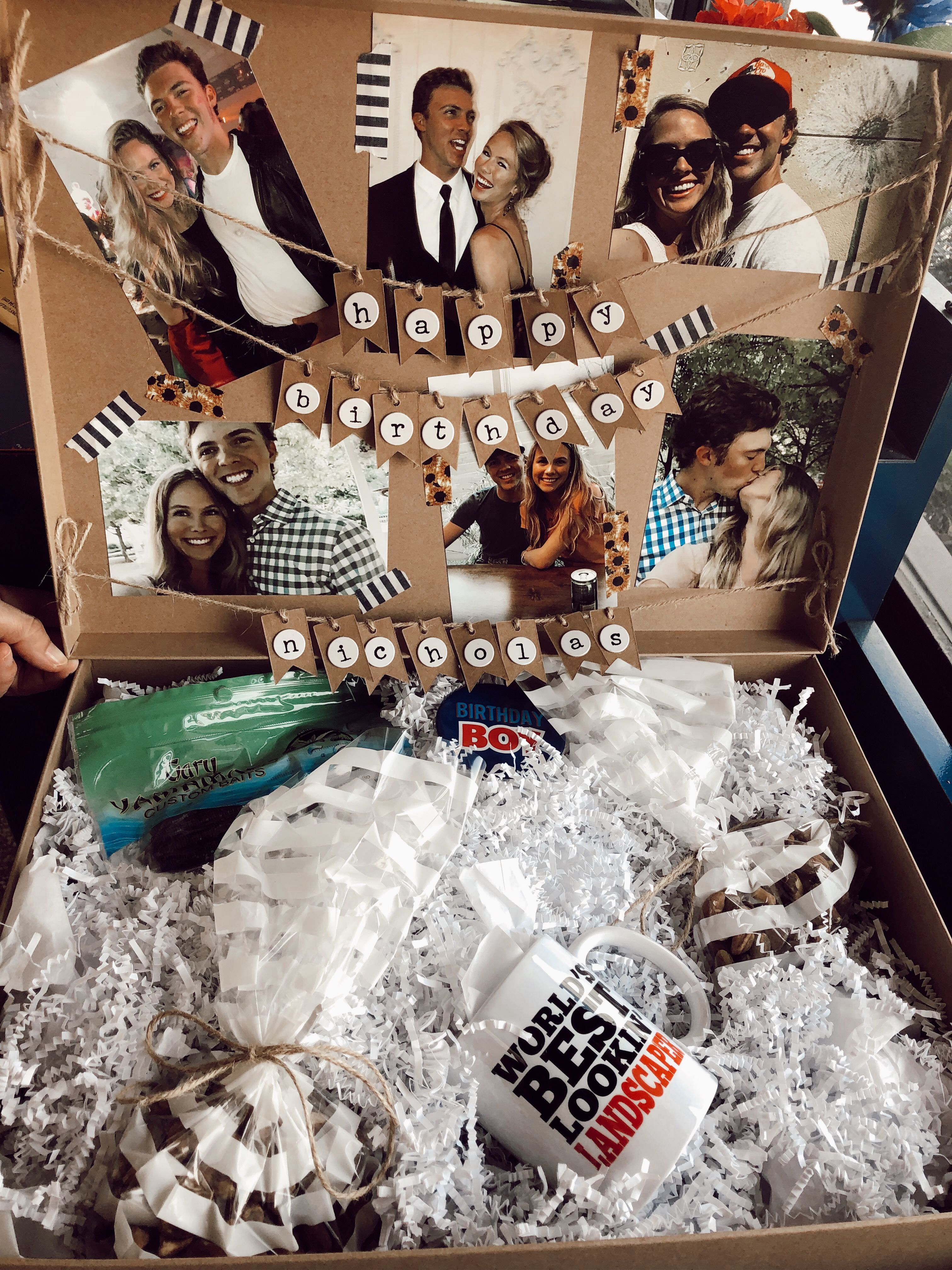 long distance birthday box for boyfriend Diy christmas