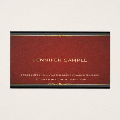 Luxe Modern Professional Elegant Color Classy Business Card
