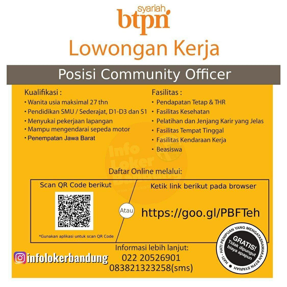 Lowongan Kerja Community Officer Bank BTPN Syariah April