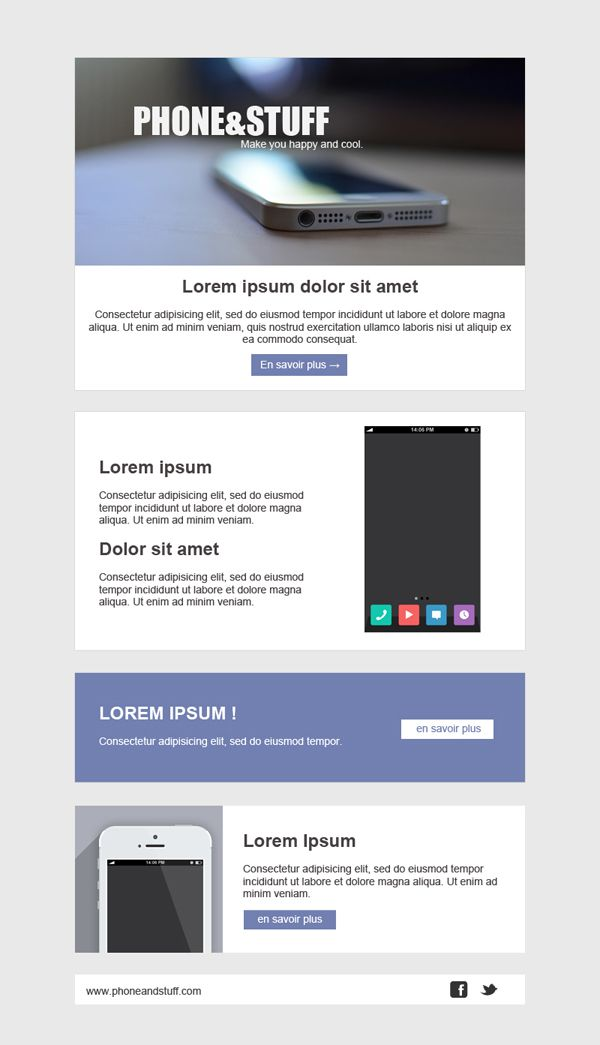 Templates Emailing Cellphone Sarbacane emailing Pinterest - emailing photo