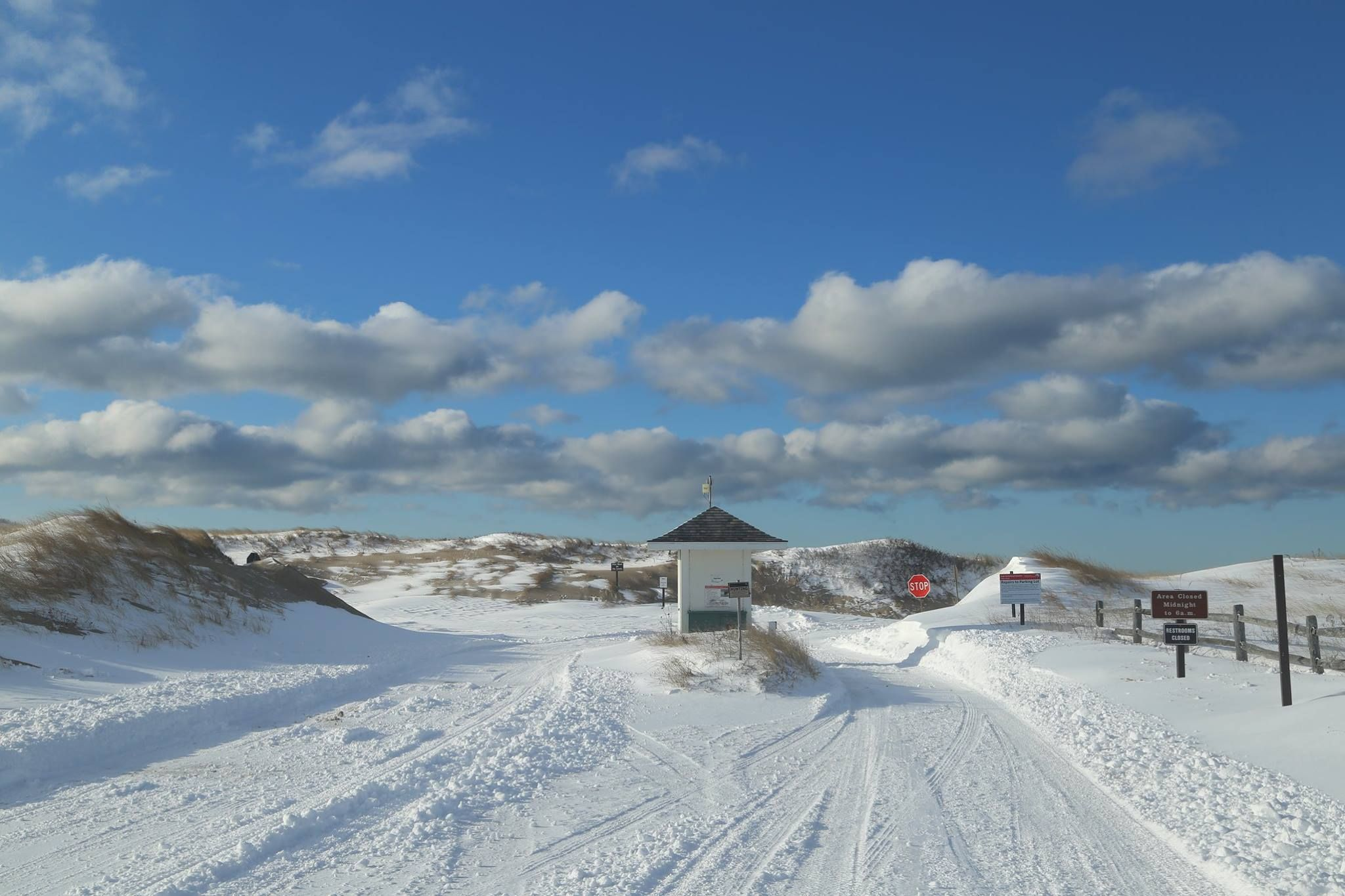 A snowy herring cove beach in january outer cape cod