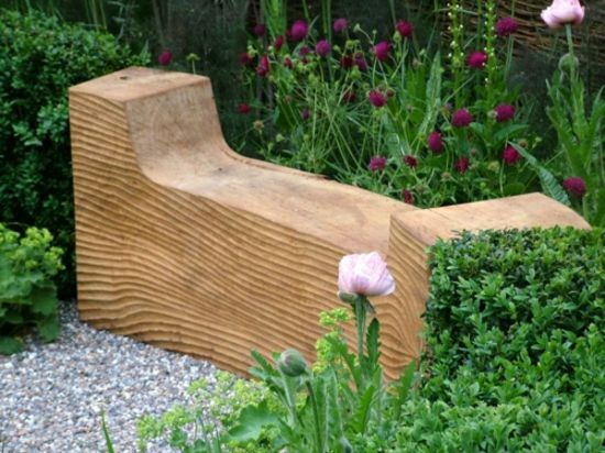 Rustikale Gartenbank Selbst Bauen Holz Material